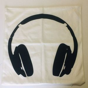 New! DJ Headphones Throw Pillow Cover